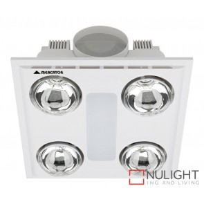 Cosmo Quattro Bathroom Heater with Exhaust & Light White MEC