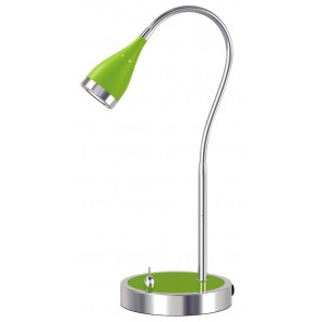Arezzo One Light Task Lamp in Green Brilliant Lighting