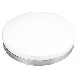 Aurora Ceiling Light with Opal Glass in Black / Chrome Brilliant Lighting