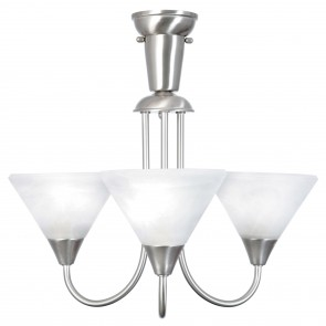 Baldini DIY Three Light Pendant in Brushed Chrome Brilliant Lighting