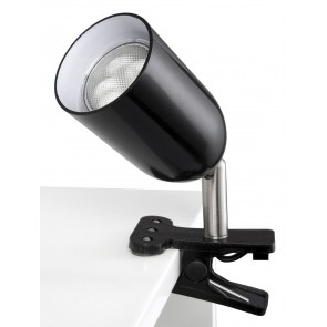 Benny One Light Clip Light in Black Brilliant Lighting