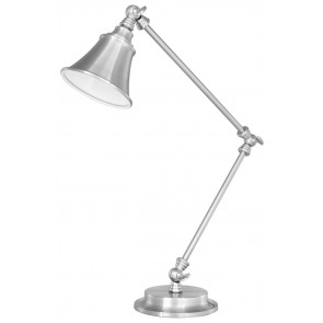 Byron Desk Lamp in Brushed Steel Brilliant Lighting