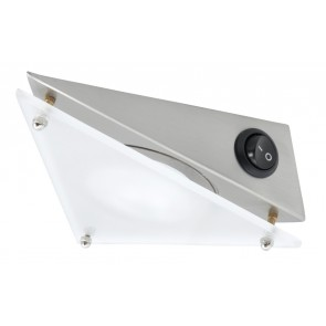 Cardiff Triangular Cabinet Light in Brushed Chrome Brilliant Lighting