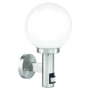 Huon Ball Wall Light with Sensor in Stainless Steel Brilliant Lighting