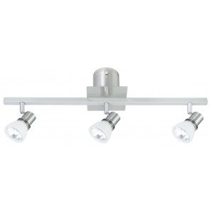 Ivana Three Light Ceiling Spotlight in Brushed Chrome Brilliant Lighting