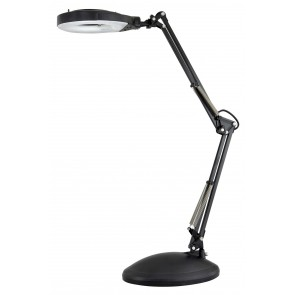 Nikki Magnifier Desk Lamp in Black Brilliant Lighting