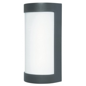 Osaka Convex Exterior Wall Light in Black Brilliant Lighting
