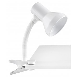 Ozzie Desk Lamp in White Brilliant Lighting