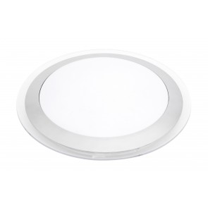 Ricci T5 Round Ceiling Light in Silver Brilliant Lighting