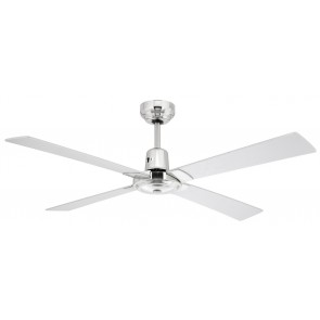 Rosebud 122cm Silver Fan with No Light Brilliant Lighting