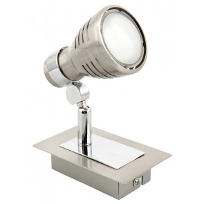 Sorrento Eco One Light Ceiling Spotlight in Brushed Chrome Brilliant Lighting