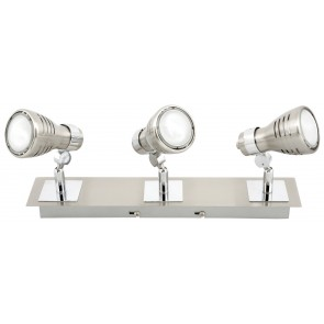 Sorrento Eco Three Light Ceiling Spotlight in Brushed Chrome Brilliant Lighting