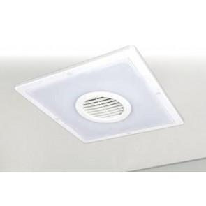 Taranto Square Exhaust Fan with LED Light Brilliant Lighting