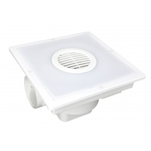 Taranto Square Exhaust Fan with Light Brilliant Lighting