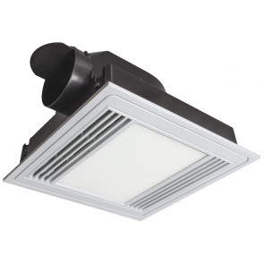 Tercel Square Bathroom Exhaust Fan with Light Brilliant Lighting