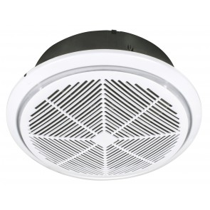 Whisper Round Exhaust Fan with Draft Stop Brilliant Lighting
