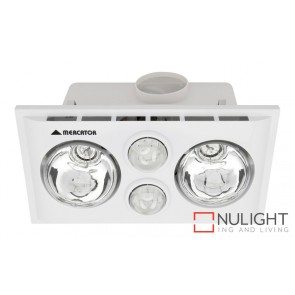 Lava Duo Bathroom Heater with Exhaust & Light White MEC