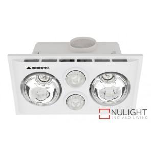 Lava Duo Bathroom Heater with Exhaust & Light White MEC