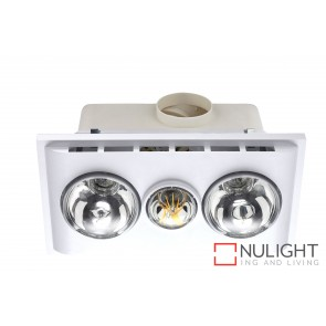Uniglow LED Bathroom Heater with Exhaust & Light White MEC