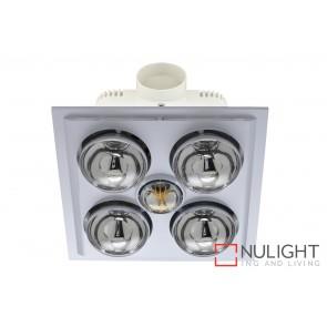 Lava Quattro LED Bathroom Heater with Exhaust & Light White MEC