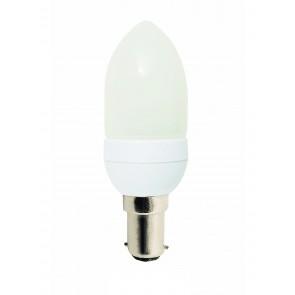 240V 11W Mini Candle Energy Saving Fluorescent Bulb - 8000 Hours CLA Lighting