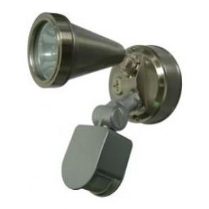 240V G9 Single Sensor Security Spotlight in Nickel CLA Lighting