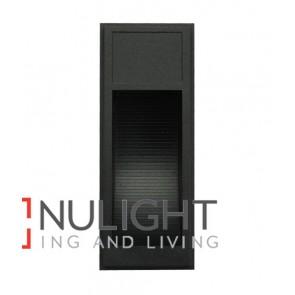 WALL LED 240V Surface Mounted MATT Black Rectangular 3000K  1.8W IP65 70D (130 Lumens) CLA