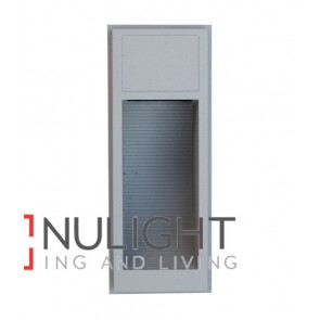 WALL LED 240V Surface Mounted Silver Rectangular 3000K 1.8W IP65 70D (130 Lumens) CLA