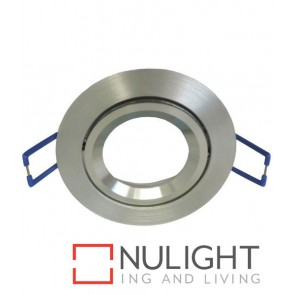 Downlight FITTING MR16 12V Centre Tiltable 2TONE Silver Round 75mm with Lamp Holder CLA