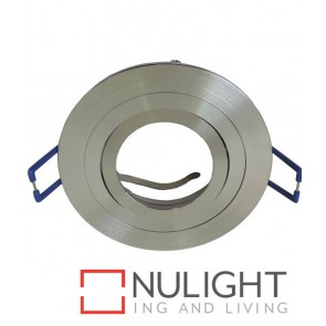 Downlight FITTING MR16 12V Centre Tiltable 2TONE Silver Round 80mm with Lamp Holder CLA