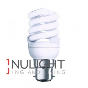 GLOBE CFL BC T2 SPIRAL 15W 2700K (900 Lumens) OZT215WBCWW CLA