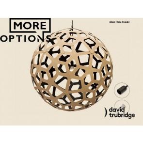 Coral Black 1 Side Inside David Trubridge Pendant DAV