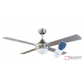 HARMONY - 48 inch 1200mm   4  x Timber Blade with Light and remote included - quick connect wiring - Silver VTA