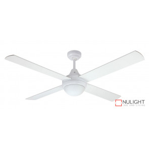 HARMONY - 48 inch 1200mm  4  x Timber Blade with light included - quick connect wiring - White VTA