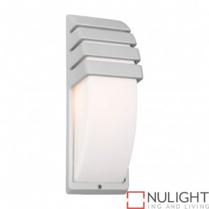 Darwin 1 Light Exterior Wall Light Silver COU
