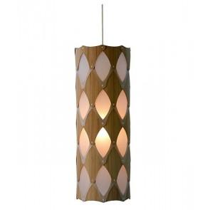 PE0073 Ika full hanging lamp bamboo plywood David Trubridge