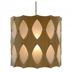 PE0071 Ika half hanging lamp bamboo plywood David Trubridge