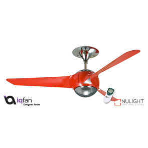 EON - 56 inch 1400mm - 3 Blade Premium Ceiling Fan - Red - LCD Remote Control included VTA