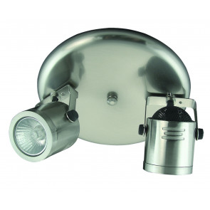 Adjustable Two Light Round Ceiling Spotlight Domus Lighting