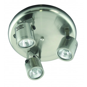 Three Light Round Ceiling Spotlight Cylinder Domus Lighting