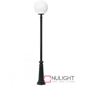 300Mm Globe Lantern On 2250mm Post Black ASU