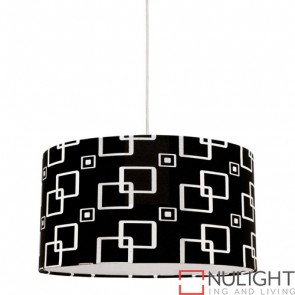 Fabian 1 Light Black Pendant COU