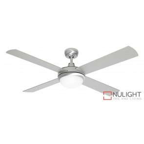 Grange 1300 Ceiling Fan with Light Bruhsed Steel MEC