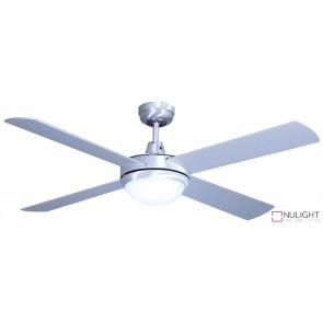 Grange 1300 Ceiling Fan with LED Light Brushed Steel MEC
