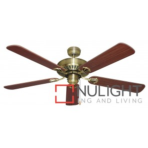 Hayman 1300 Ceiling Fan Antique Brass MEC