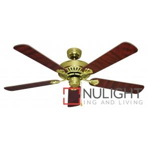 Hayman 1300 Ceiling Fan Polished Brass MEC