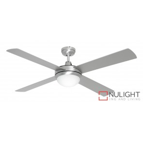 Caprice 1200 Ceiling Fan with B22 Light Brushed Steel MEC