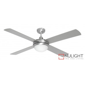 Caprice 1300 Ceiling Fan with B22 Light Brushed Steel MEC