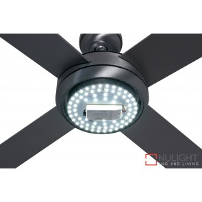 Caprice 1300 Ceiling Fan with LED Light Brushed Steel MEC