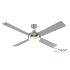 Caprice DC 1300 DC Ceiling Fan with Light Brushed Steel MEC